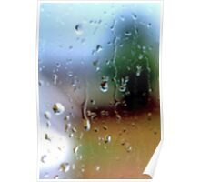 Rainy Window Abstract 2 Poster