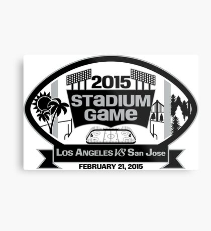 2015 LA Stadium Game - Black Text Metal Print