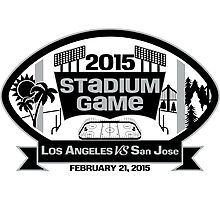 2015 LA Stadium Game - Black Text Photographic Print