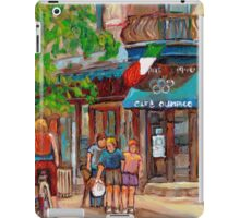 CANADIAN ART MONTREAL CAFES CANADIAN PAINTINGS BY CANADIAN ARTIST CAROLE SPANDAU iPad Case/Skin