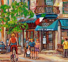 CANADIAN ART MONTREAL CAFES CANADIAN PAINTINGS BY CANADIAN ARTIST CAROLE SPANDAU by Carole  Spandau
