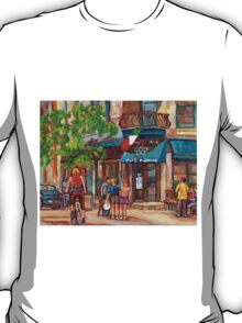CANADIAN ART MONTREAL CAFES CANADIAN PAINTINGS BY CANADIAN ARTIST CAROLE SPANDAU T-Shirt