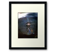 Spider Web Abstract Framed Print