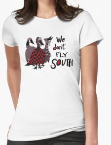 Oakland Geese don't fly South Womens Fitted T-Shirt