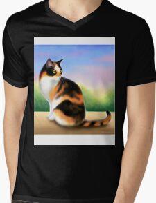Calico Cat at Sunset Mens V-Neck T-Shirt