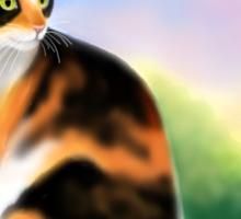 Calico Cat at Sunset Sticker