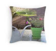 Water The Plant! Throw Pillow