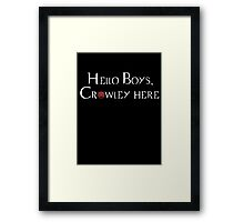 Hello Boys Framed Print