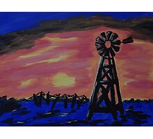 WEST TEXAS WINDMILL Photographic Print