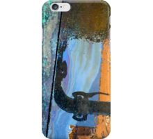 Reflection in a diesel spill iPhone Case/Skin