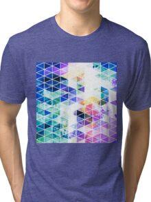Grungy Bright Triangle Pattern Tri-blend T-Shirt