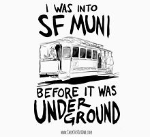 I Was Into SF Muni... Men's Baseball ¾ T-Shirt