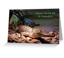 Crocadile - Naturaliste Reptile Park Carbunup W.A, Greeting Card
