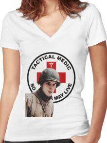 Eugene Roe Medic Women's Fitted V-Neck T-Shirt