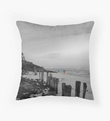 lennox head seven mile beach_2 Throw Pillow