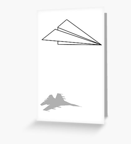 Paper Airplane Dreams Greeting Card