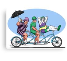 Bat Baddies Biking By the Beach Canvas Print