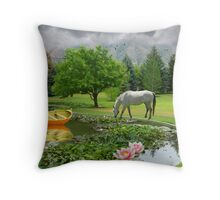 Drinking The Water Of Life Throw Pillow