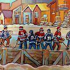 CANADIAN HOCKEY SCENES HOCKEY ART PAINTINGS BY CANADIAN ARTIST CAROLE SPANDAU by Carole  Spandau