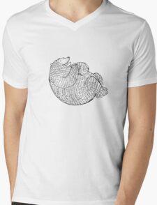 Laughing Bear Mens V-Neck T-Shirt