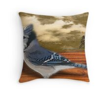 The Bluejay Throw Pillow