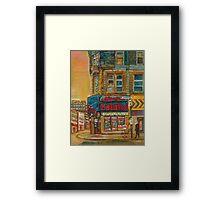CANADIAN CITY SCENES MONTREAL ART BY CANADIAN ARTIST CAROLE SPANDAU Framed Print