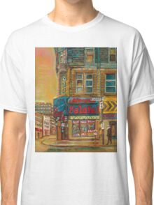 CANADIAN CITY SCENES MONTREAL ART BY CANADIAN ARTIST CAROLE SPANDAU Classic T-Shirt