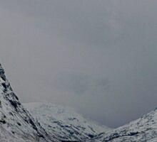 the highlands winter Sticker
