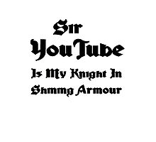My knight in shining armour Photographic Print