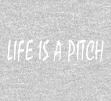 LIFE IS A PITCH - WHITE Kids Tee