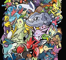 Gen II - Pokemaniacal Colour by Alex Clark
