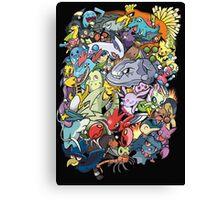 Gen II - Pokemaniacal Colour Canvas Print