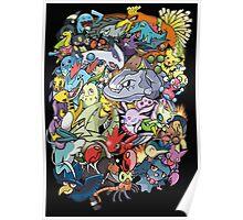 Gen II - Pokemaniacal Colour Poster