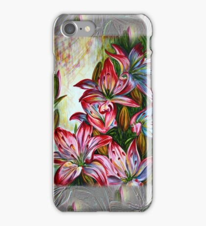 Red Lilies Fantasy iPhone Case/Skin