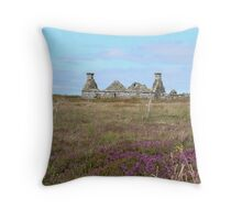 Ruined Croft House Throw Pillow