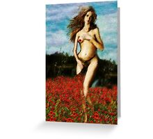 Venus In The Poppies Greeting Card