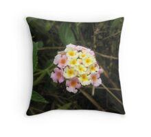 Coloured Wildflower Throw Pillow