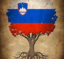 Tree of Life with Slovenian Flag by Jeff Bartels