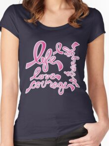 Life, Love Strength, Courage Women's Fitted Scoop T-Shirt
