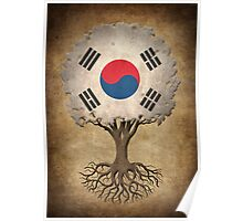 Tree of Life with South Korean Flag Poster