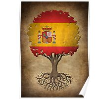 Tree of Life with Spanish Flag Poster