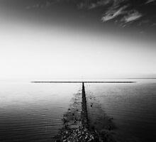rock groyne in the North Sea II by novopics