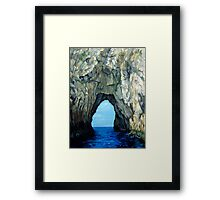 Capri Sailing (Reworked) Framed Print
