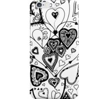Hearts Within Hearts Aussie Tangle  (See Description Notes for Colour Options) iPhone Case/Skin