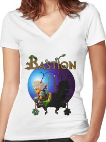 "Bastion - Kid's ""Heartless"" Women's Fitted V-Neck T-Shirt"