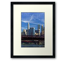 Chicago river cruise view towards  Dearborn Street Bridge Framed Print
