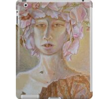 Rosewoman - Portrait In Crayon With Thorns For Teeth iPad Case/Skin