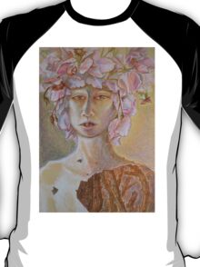 Rosewoman - Portrait In Crayon With Thorns For Teeth T-Shirt