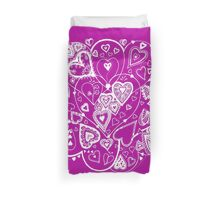 Hearts Within Hearts Aussie Tangle White (See Description Notes for Colour Options). Duvet Cover