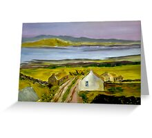 Cottage in Ireland (13 x 8 inches) Greeting Card